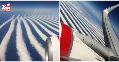 Kì lạ đi máy bay thấy mây xếp hàng