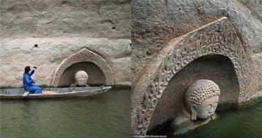 Phát hiện bức tượng Phật 600 năm tuổi dưới nước