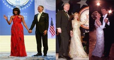Những bộ váy ấn tượng của các đệ nhất phu nhân Mỹ khi chồng nhậm chức