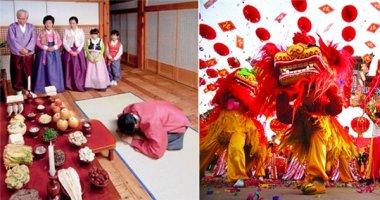 Những điều thú vị trong Tết âm lịch của 4 quốc gia châu Á