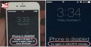 Hướng dẫn cách mở khóa iPhone, iPad khi nhập sai mật khẩu nhiều lần
