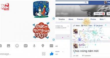 iPhone và Facebook cập nhật hiệu ứng chúc mừng năm mới rất ấn tượng