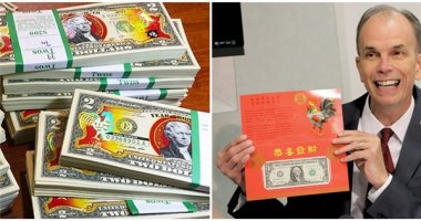 Độc đáo tờ 1 đô may mắn, 2 đô in hình gà do Bộ Tài chính Mỹ phát hành