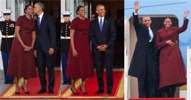 Bất ngờ lý do Michelle Obama mặc đồ đỏ ở Lễ Nhậm chức của Donald Trump