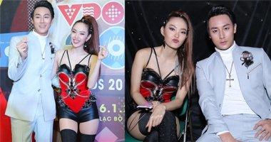 """Bắt gặp Minh Hằng tình tứ, đùa giỡn bên """"nam thần"""" Rocker Nguyễn"""