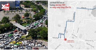 Lối thoát nào khi bị kẹt xe ở sân bay Tân Sơn Nhất?