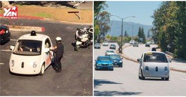 """Xe tự lái của Google bị cảnh sát """"tấp vào lề"""" vì chạy quá """"rùa"""""""