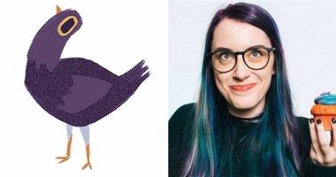 """Đi tìm tác giả của chú chim màu tím """"hot"""" nhất nhì mạng xã hội"""