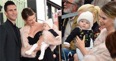 Phát sốt với hình ảnh tiểu công chúa của Adam Levine lần đầu ra mắt