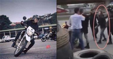 Ồn ào vụ cô gái đi mô tô cầm gạch đòi đánh tài xế taxi