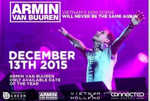 Armin sẽ có mặt để trình diễn vào ngày 13.12 tới tại EcoPark.