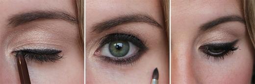 Có thể dùng cọ tán màu mắt nếu eyeliner quá đậm.(Ảnh: Internet)