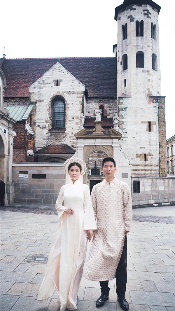 Vợ chồng Diễm Trang mặc áo dài chụp ảnh cưới tại châu Âu. - Tin sao Viet - Tin tuc sao Viet - Scandal sao Viet - Tin tuc cua Sao - Tin cua Sao