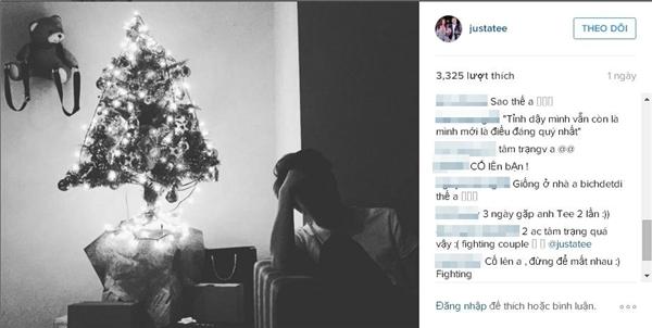 Ngay bên dưới bài đăng của Justa Tee có khá nhiều người hâm mộ cũng như bạn bè vào hỏi thăm, lo lắng cho mối quan hệ của anh và hot girl Trâm Anh. (Ảnh: Internet)
