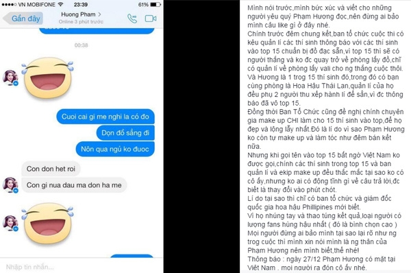 Quản lífanpage Miss Universe Vietnam nêu bằng chứng khẳng định Phạm Hương lọt top 15. - Tin sao Viet - Tin tuc sao Viet - Scandal sao Viet - Tin tuc cua Sao - Tin cua Sao