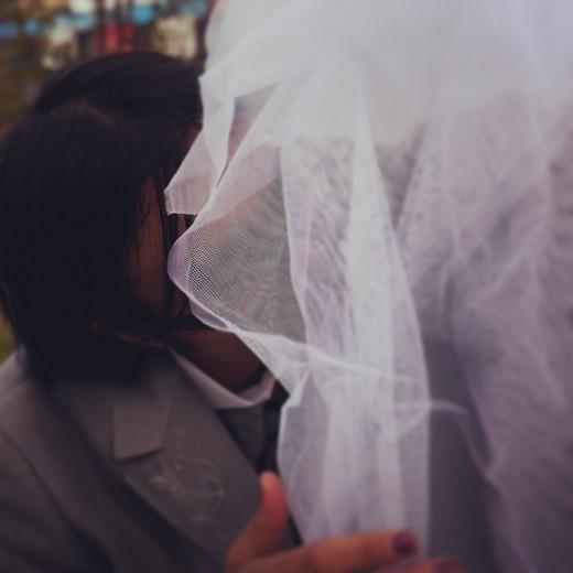 Ảnh cưới lãng mạn của cả hai. (Ảnh: Instagram)