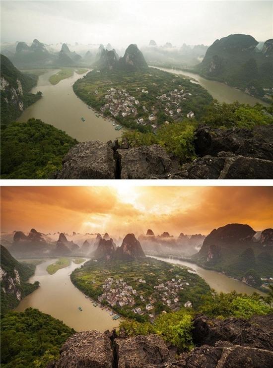 Hai bức ảnh này, thật không thể tin là cùng một nơi!