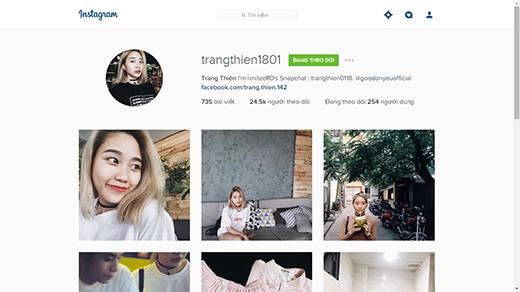 Tài khoản Instagram của hai bạn trẻ. (Ảnh: Internet)