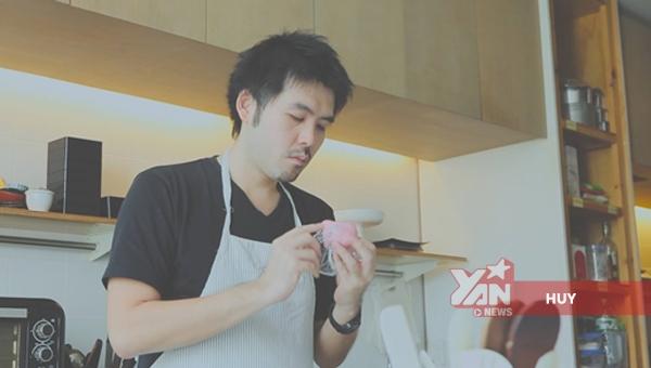 mỹ nam làm bánh