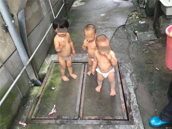 3 em bé đi lang thang