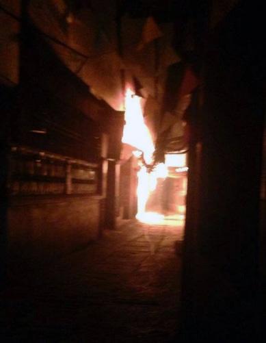 Trước đó tại Nam Từ Liêm cũng xảy ra một vụ cháy cột điện tương tự. Ảnh: Internet