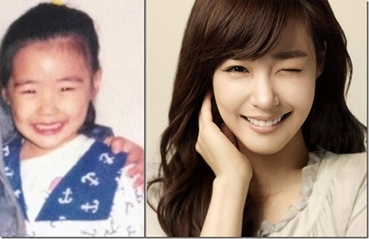 """""""Mắt cười"""" Tiffanyngố tàu khi bé và hiện tại không thay đổi nhiều."""