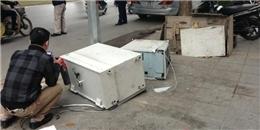 Cây ATM bị kẻ gian phá giữa Hà Nội