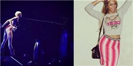 [Mlog Sao] Miley Cyrus lại phun nước vào fan, Beyonce khoe vòng eo gợi cảm