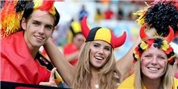 [Bóng Đá] CĐV xinh như thiên thần của đội tuyển Bỉ