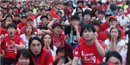 [Bóng Đá] CĐV Hàn Quốc bật khóc trước màn thua của đội nhà