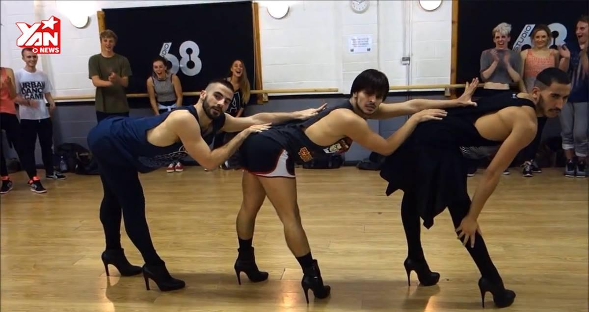 Bộ 3 chàng trai nhảy trên giày cao gót tung clip thể  hiện các bài hits của Beyonce