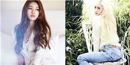 """Krystal và Suzy """"đọ sắc"""" trên tạp chí"""