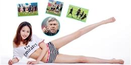 [Bóng Đá] Hot girl khoe chân dài miên man cổ vũ Real Madrid