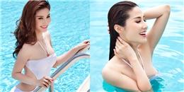 Diễm My 9X khoe đường cong nóng bỏng tại bể bơi
