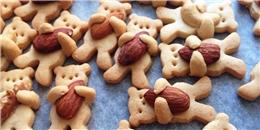 Thích thú với bánh hình gấu con ôm hạt