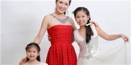 Hoa hậu Ngô Thu Trang cùng 2 con gái cưng làm từ thiện