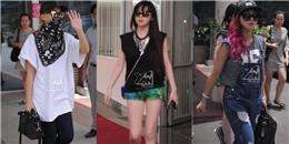 Bất chấp nắng nóng, 2NE1 vẫn thân thiện chào fan Việt