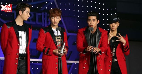 """2PM """"bất ngờ"""" với giải thưởng Nghệ sỹ vàng tại SBS Gayo Daejun 2014"""