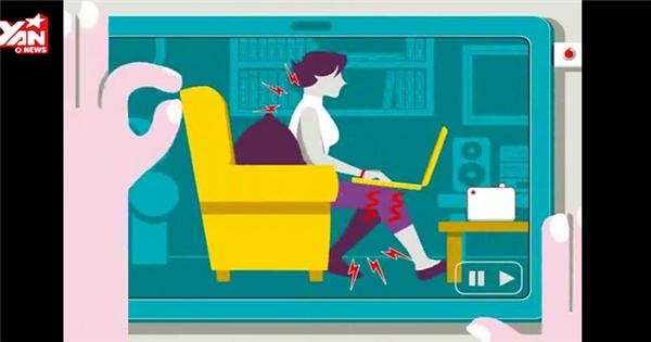 Những hiểm nguy sức khoẻ vì ngồi sai tư thế dùng máy tính