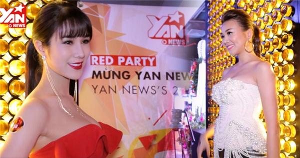 """Thanh Hằng, Diệp Lâm Anh vai trần """"đốt cháy"""" thảm đỏ"""