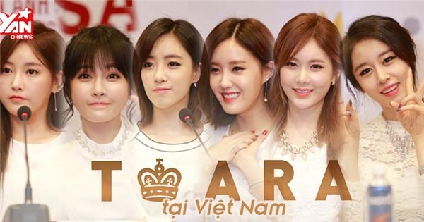 Cận cảnh vẻ đẹp rạng ngời của T-ara tại Việt Nam