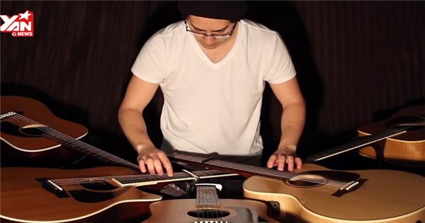 Trố mắt với chàng trai 2 tay chơi 5 đàn guitar