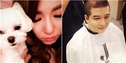 Tiffany 'âu yếm' bên cún cưng, Shindong xuống tóc chuẩn bị nhập ngũ