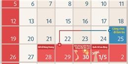 Lễ 30/4 và 1/5: Nghỉ gộp 6 ngày liền