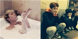 Lee Hong Ki háo hức tắm bồn, Lee Jong Suk 'thùy mị' tạo dáng cực đáng yêu
