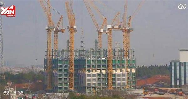 Kinh ngạc với tòa nhà 57 tầng xây trong vòng 19 ngày ở Trung Quốc