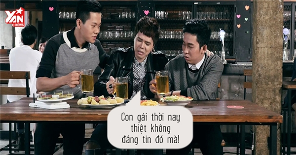 """Trịnh Thăng Bình cùng bạn nhậu """"nói xấu"""" người yêu cũ"""