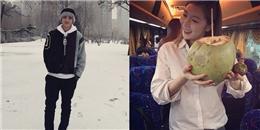 Luhan 'đốn tim' bằng hình ảnh cực hiền, HyunA thích thú khi uống nước dừa