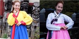 Mê mẩn vẻ nữ tính của Minh Hằng khi mặc Hanbok truyền thống