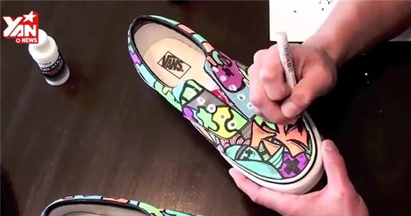 """Phá cách với giày vẽ siêu đẹp không sợ """"đụng hàng côm cốp"""""""